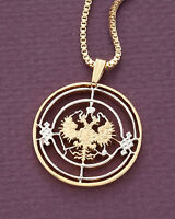 """Russian Imperial Eagle Pendant, Hand Cut Russian Coin, 1 1/8"""" in Dia., ( # 271 )"""