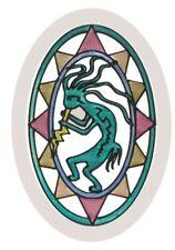 "9"" Kokopelli Southwest Stained Art Glass Suncatcher"
