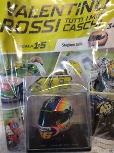 VALENTINO ROSSI TUTTI I MIEI CASCHI  WINTER TEST 2004  AGV 1:5 #34