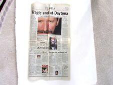 Arizona Republic Sports Section Dale Earnhardt Daytona Speedway Fatal Crash 2001