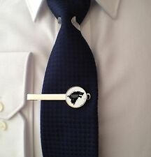 GAME OF THRONES - DIRE WOLF - TIE CLIP -  3D GLASS LENS  - MENS GIFT - STARK