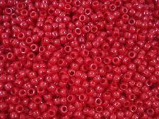 Pony Beads 2500pc Opaque Red 6x4mm Bulk Pack Jewellery Spacer FREE POSTAGE