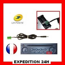Câble MP3 AUXILIAIRE AUX Jack Renault Megane Scenic Clio Laguna Modus Top GZ