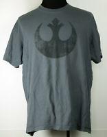 Star Wars Rebel Alliance Logo Gray S/S Crew Neck T-Shirt 2XL