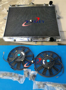 Aluminum Radiator + FAN For 1984-1997 Ford Econovan/Mazda E2000 FE AT/MT Petrol