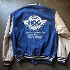 Men's Vintage Harley Davidson Motorcycles Owner Group Rallies Jean Jacket Sz M