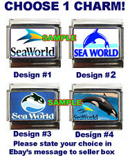 Sea World Custom Italian Charm Killer Whale, Orca, choose!