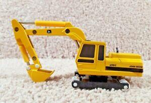 ERTL 1/64 Scale Diecast John Deere 690C Yellow Excavator Backhoe Equipment