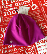 NWT Lululemon  Run and Done Toque Regal Plum Ponytail Reflect W/lulu Red Bag