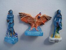 Video Game Film AVATAR Rare FOX Vintage Mint SET 3 Miniature Ceramic Figures LOT