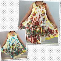 Floral Design Kaftan Tunic Dress Ladies Top Summer Hawaiian Hippy Boho Dress Top