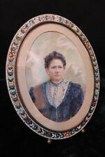 Vintage Italian  Mosaic Frame w/ Painting