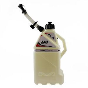 Matrix M3-100 Utility Fuel Race Can White 4 Gallon Spout Quick Fill Petrol Jug