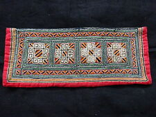 An early 20th C Woven Tai Hill Tribes Hmong Embroidery Panel