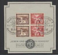 """[69163] GERMANY Mi. W131 x 2 on SOUVENIR CARD """"LEBEN und WERK des FÜHRERS"""""""