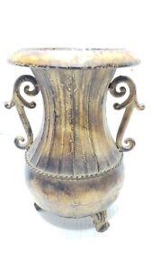 """Metal Vase 10"""" Tall"""