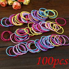 100pcs Colorful Baby Kids Girl Elastic Hair Bands Ponytail Holder Rope Ties