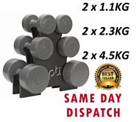 16kg Opti Dumbbell Tree 3 Pairs of Dumbbells 7 Piece Gym Set With Stand