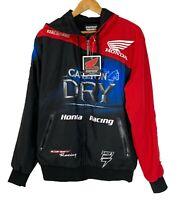 JETPILOT Honda Racing Zip Up Hooded Jacket Size M Fully Lined - Sponsor Logos