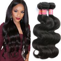 Brazilian Virgin Body Wave Weave Weft 100% Human Hair Body Wavy 3 Bundles