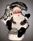 Vintage House Of Hatten 1999 Paul Bolinger Collection  Santa  Hand Painted