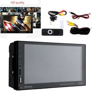 7'' Bluetooth Touch Screen Stereo Radio Support FM/MP5/USB Mirror Link With Cam