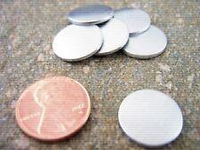 "Metal Stamping Blanks 3/4"" Aluminum Metal Stamping Jewelry Blanks Set of 15 New"