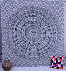 Indian Elephant Mandala Tapestry Wall Hanging Hippie Tapestries Ethnic Decor Art