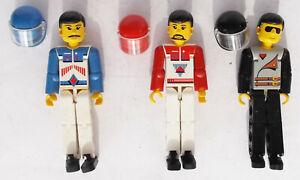 Lego - The Technic Team 8714 - 3x Technic racing dribver figures - VGC