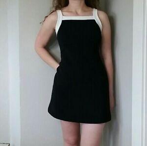 1990s MINI DRESS Black Silver Jewel Dress.size small womens...black dress gem petite mod retro striped blouse summer dress