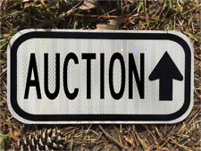 """AUCTION road sign 12""""x6"""" - DOT style - Vintage Thrift Antiques Junk Salvage"""