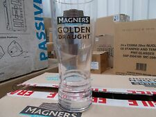 24  MAGNERS GOLDEN DRAUGHT CIDER PINT GLASSES NUCLEATED Free Shipping UK