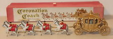 DTE 1952 EARLY LESNEY MATCHBOX TOY LG GOLD PAINTED HORSE DRAWN CORONATION COACH