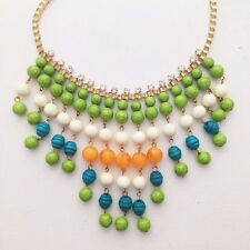 beaded statement necklace Anthropologie tribal multi colored