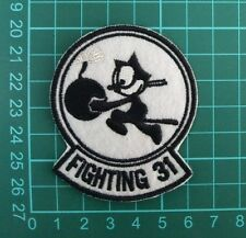 """5 cm x 6.5cm  US.Navy `Fighting 31` EMBROIDERED """" IRON-ON Patches"""""""
