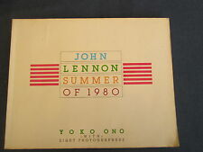 JOHN LENNON SUMMER OF 1980 Yoko Ono with 8 photographers