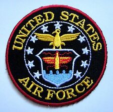 United States Air Force Army Military Embroidered Iron on Patch Free Shipping