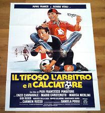 IL TIFOSO L'ARBITRO E IL CALCIATORE manifesto poster Pippo Vitali Roma Calcio