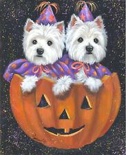 "Precious Pets Garden Flag - Westie Halloween 12"" x 18"" ~ Charity!"