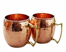 Handmade Pure Copper Hammered Moscow Mule Mug set of 2