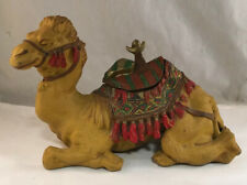 ANTIQUE FINELY COLD PAINTED METAL FIGURAL CAMEL ANIMAL INKWELL INKSTAND