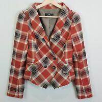 [ CUE ] Womens Plaid Jacket / Blazer | Size AU 10 or US 6