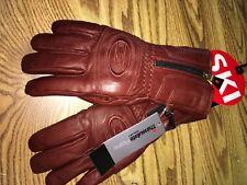 Ski Signature Leather Vintage Brown Zip Cuff  Ski Ski/winter glove Men's Sz L