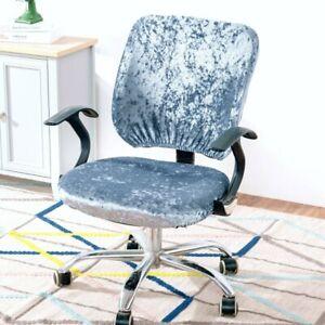 Velvet Split Office Chair Cover Computer Swivel Chair Covers Elastic Universal