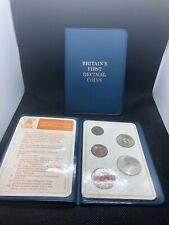 5-Coin Set Britain's First Decimal Coins in display wallet