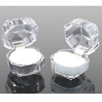 20pcs Wholesale Mixed Plastic Crystal Lots Jewelry Ring Display Boxes White
