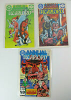 Lot of 3 Warlord Annual DC Comics Bronze Age VF #1, 2, 4