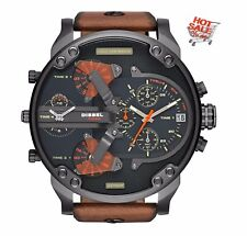 *NEW* DIESEL DZ7332 MR. DADDY 2.0 57MM WATCH 4 TIME ZONES BROWN STRAP GIFT UK