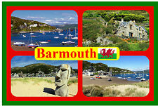 BARMOUTH, WALES - SOUVENIR NOVELTY FRIDGE MAGNET - SIGHTS & FLAG - NEW