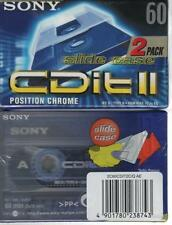 SONY CDIT II 60 chrome 2x cassette K7 tape Blank Vierge neuf type II slide case